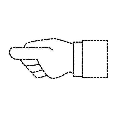 Menselijke hand vangen pictogram vector illustratie ontwerp Stockfoto - 86529520