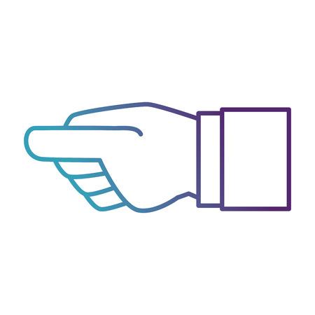 인간의 손 잡기 아이콘 벡터 일러스트 디자인