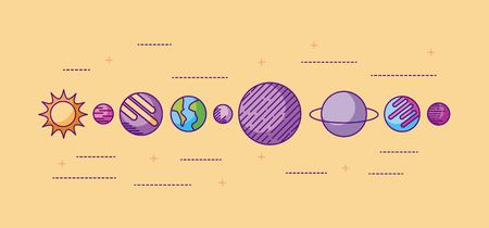 the solar system galaxy astronomy universe vector illustration Фото со стока