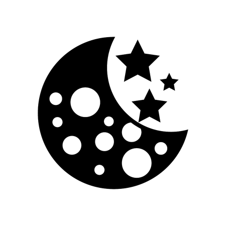 moon galaxy astronomy universe science vector illustration