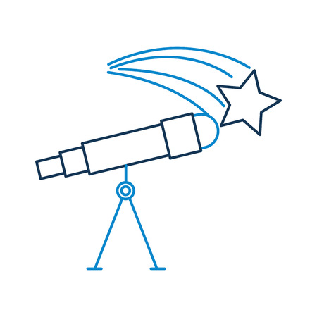 天文望遠鏡スター研究科学ユニバースベクトルイラストレーション