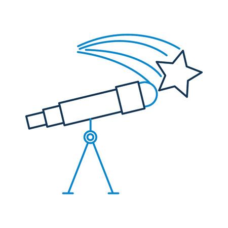천문학 망원경 별 연구 과학 우주 벡터 일러스트 레이션