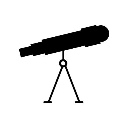 Astronomy telescope, study science, universe vector illustration