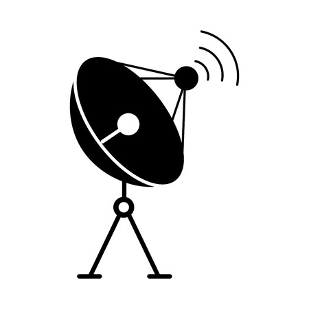 放送通信ベクトル図用レーダー皿アンテナ  イラスト・ベクター素材