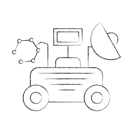 Rover space discover exploration and adventure symbol vector illustration. Illustration