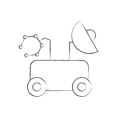 スペース発見探査と冒険シンボル、ベクトル イラスト  イラスト・ベクター素材