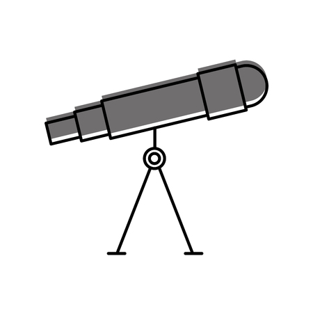 astronomy telescope study science universe vector illustration