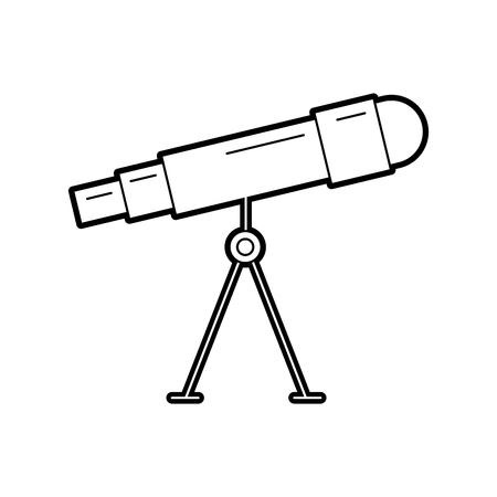 Astronomie télescope astronomie science univers illustration vectorielle Banque d'images - 86489734
