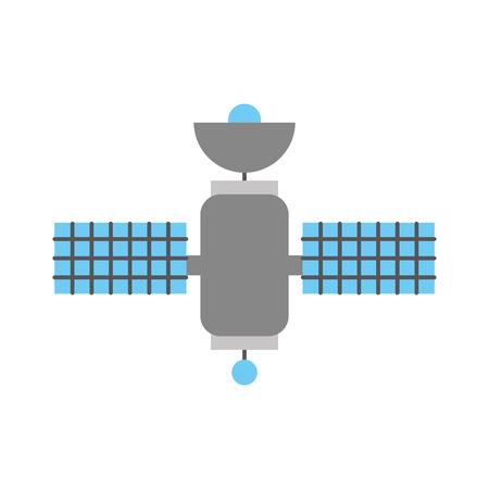 ruimte satelliet communicatie signaal netwerk vector illustratie