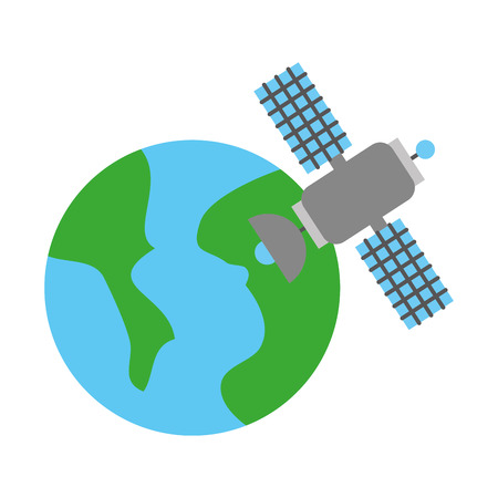 universe planet earth satellite science communication space Illustration