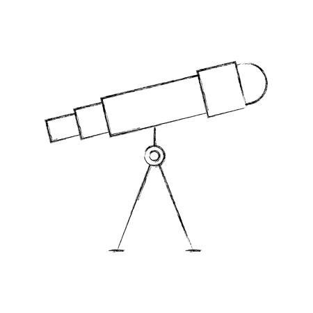 astronomy telescope study science universe vector illustration Stock Vector - 86489772