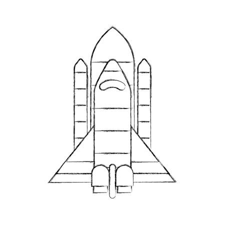 spaceship travel science exploration launch rocket vector illustration Illusztráció