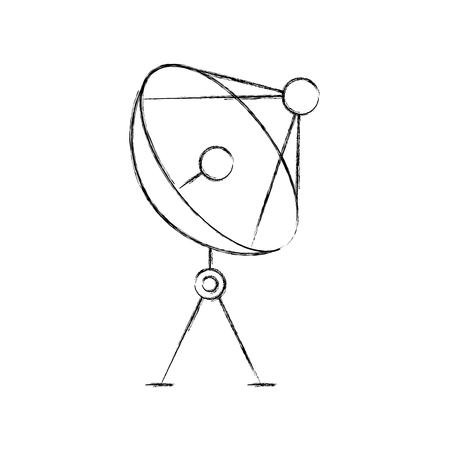 radar dish antenna for broadcast communication vector illustration