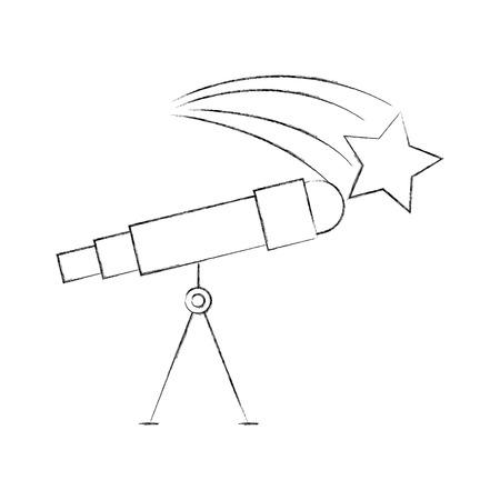 Astronomie telescoop ster studie wetenschap universum vector illustratie Stockfoto - 86489793