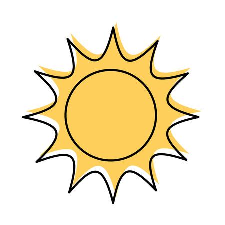 universe sun astronomy galaxy system solar vector illustration Illustration