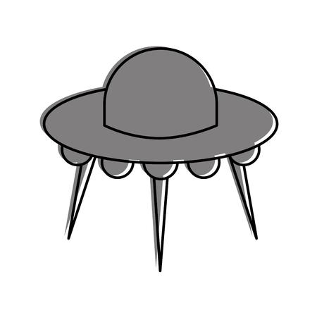 Illustrazione di vettore di trasporto di scienza tecnologia piattino volante ufo Archivio Fotografico - 86489811