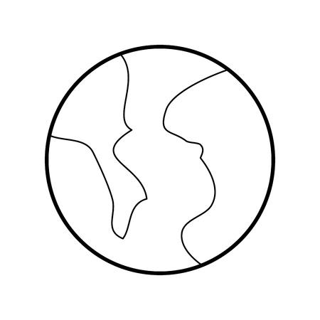 planet earth world system solar icon vector illustration Illustration