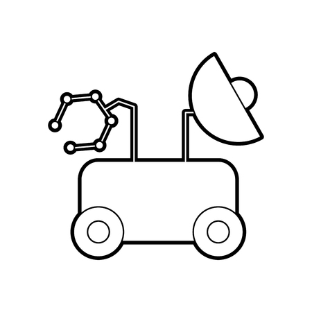 rover space discover exploration and adventure symbol vector illustration