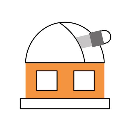 astronomy science building modern observatory telescope tower vector illustration Stock fotó - 86489849