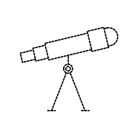 astronomy telescope study science universe vector illustration
