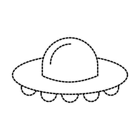 ufo フライングソーサー技術科学輸送ベクトルイラスト  イラスト・ベクター素材