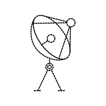 radar dish antenna for broadcast communication vector illustration