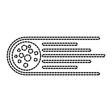 asteroid rock falling science meteorite nature vector illustration