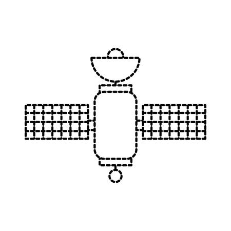 space satellite communication signal network vector illustration