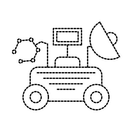 Rover Space entdecken Exploration und Abenteuer Symbol Vektor-Illustration