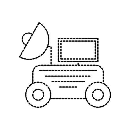 Rover Space entdecken Exploration und Abenteuer Symbol Vektor-Illustration Vektorgrafik