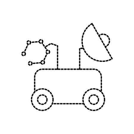 Lo spazio del vagabondo scopre l'illustrazione di vettore di simbolo di esplorazione e di avventura Archivio Fotografico - 86489869