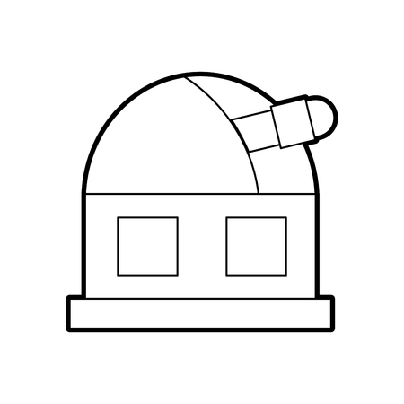 astronomy science building modern observatory telescope tower vector illustration