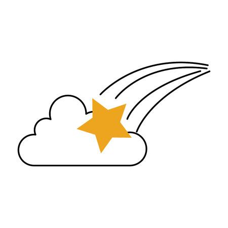 占星術スタークラウドブライトユニバースベクターイラスト