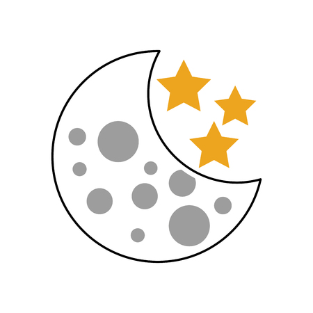 moon stars astronomy universe science vector illustration Illustration