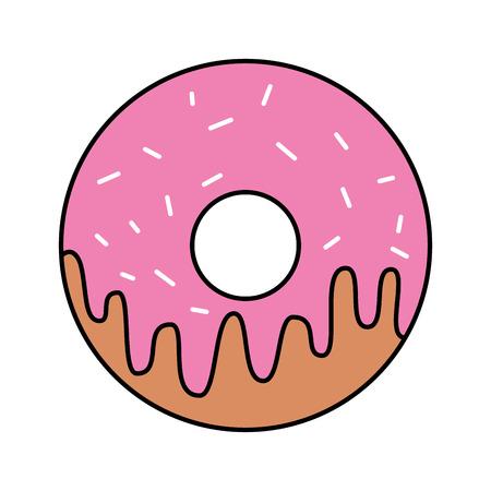sweet donut dessert bakery food vector illustration Ilustrace