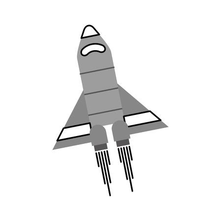 宇宙船旅行科学探査打ち上げロケットベクトルイラスト