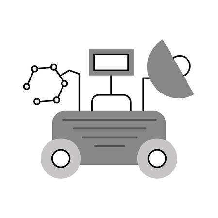 Lo spazio del vagabondo scopre l'illustrazione di vettore di simbolo di esplorazione e di avventura Archivio Fotografico - 86489946