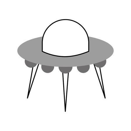 Illustrazione di vettore di trasporto di scienza tecnologia piattino volante ufo Archivio Fotografico - 86489949