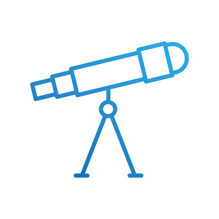 astronomie telescoop studie wetenschap universum vectorillustratie
