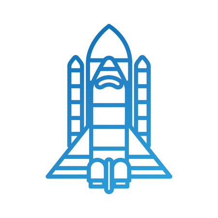 spaceship travel science exploration launch rocket vector illustration