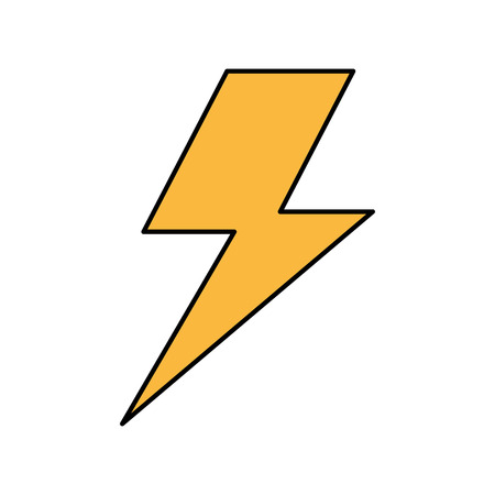 lightning bolt weather storm energy vector illustration Çizim