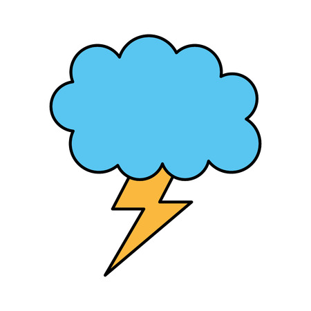 weather cloud lightning bolt climate storm vector illustration Stock Vector - 86489963