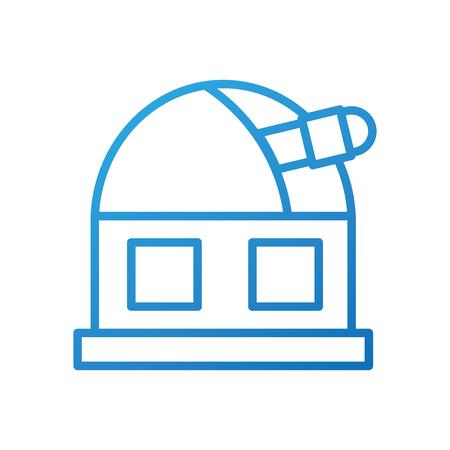 astronomie wetenschap gebouw moderne observatorium telescoop toren vector illustratie Stock Illustratie
