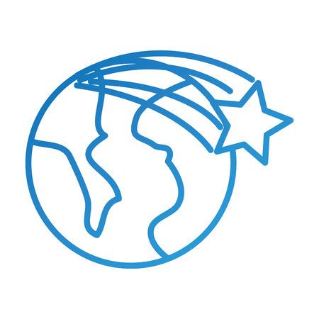 宇宙惑星地球スター スペース漫画ベクトル図  イラスト・ベクター素材