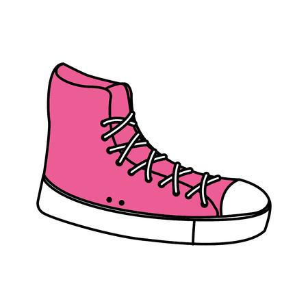 pink sneaker sport fashion trendy vector illustration