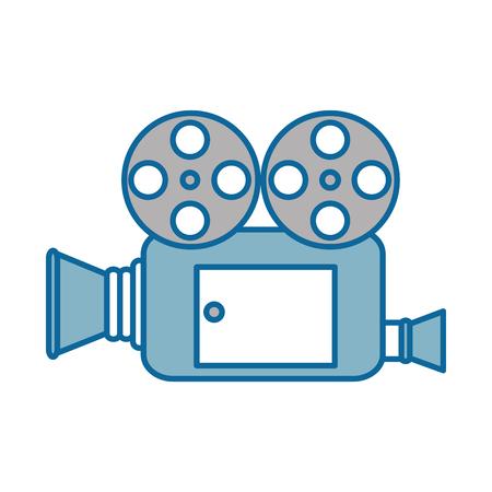 비디오 카메라 격리 아이콘 벡터 일러스트 디자인