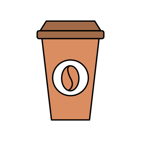 paper coffee cup disposable takeaway beverage vector illustration Illustration