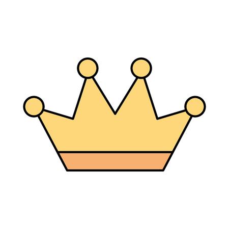 Gouden kroon juwelen luxe fantasie vector illustratie