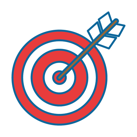 target with arrow icon vector illustration design Stock Vector - 86490036