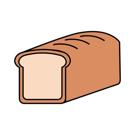 Cartoon pain de blé pain céréales céréales illustration vectorielle Banque d'images - 86490066